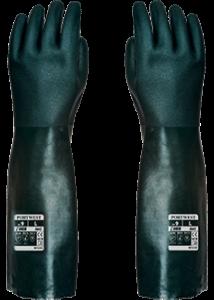 Duplán mártott PVC védőkesztyű 45cm