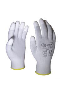 PU ujjvégenmártott polyester kesztyű, ECO változat