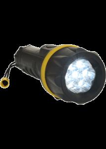 7 LED gumi zseblámpa