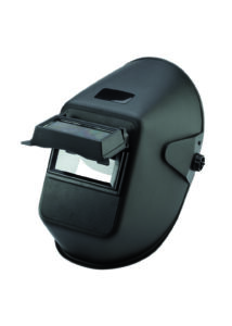 Hegesztőpajzs 90x110 mm-es cserélhető, felhajtható látómezővel