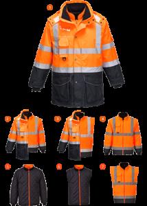 Hi-Vis 7 az 1-ben kontraszt Traffic kabát