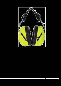 Sisakra szerelhető HV hallásvédő
