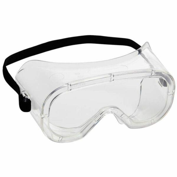 Polikarbonát védőszemüveg mechanikaibehatások ellen, gumipánttal