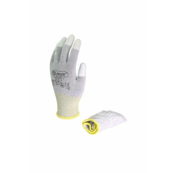 PU ujjvégen mártott karbon szálas kesztyű
