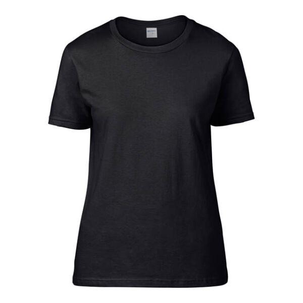 Prémium női környakas póló 185 g