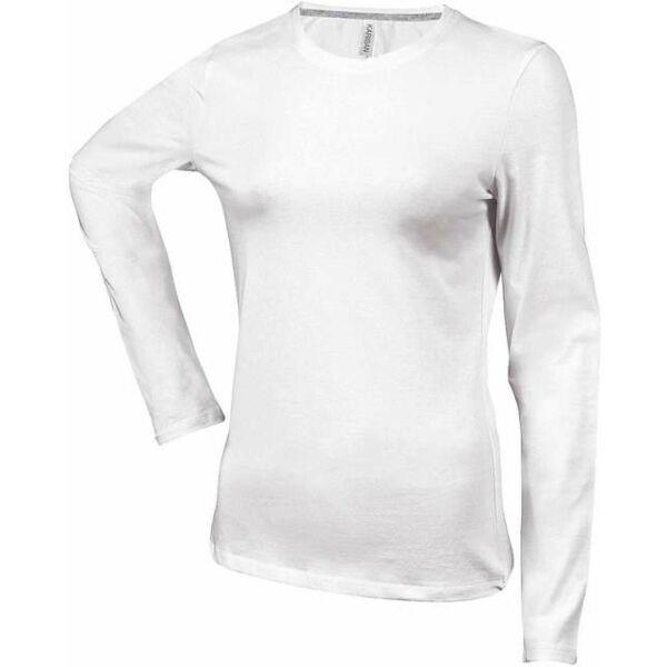 Prémium női hosszú ujjú környakas póló 180 g