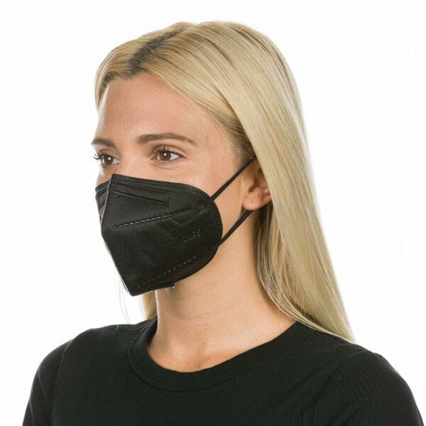 Fekete FFP2 Szájmaszk - Légzésvédő maszk