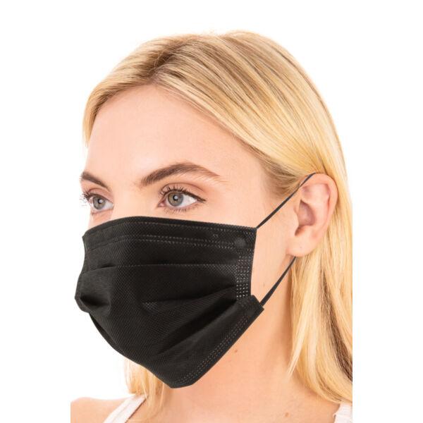 Fekete 3 rétegű szájmaszk / orvosi maszk (50db-os)