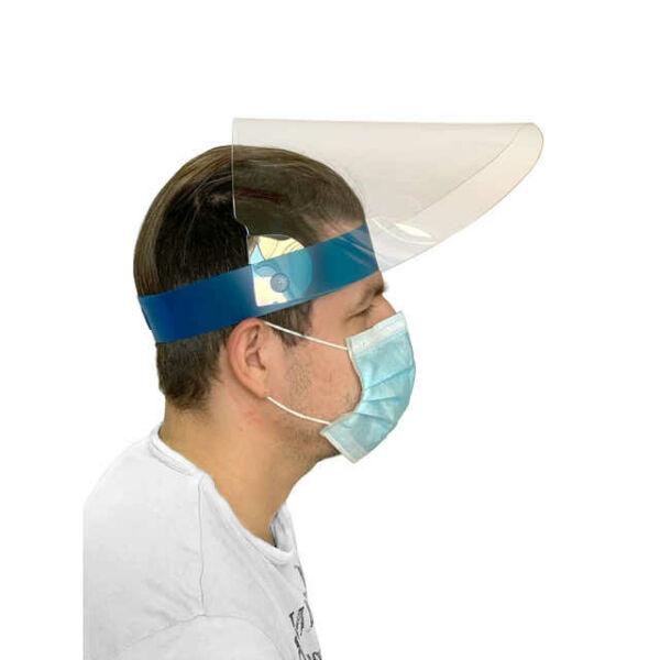 Felhajtható víztiszta arcvédő pajzs, plexis