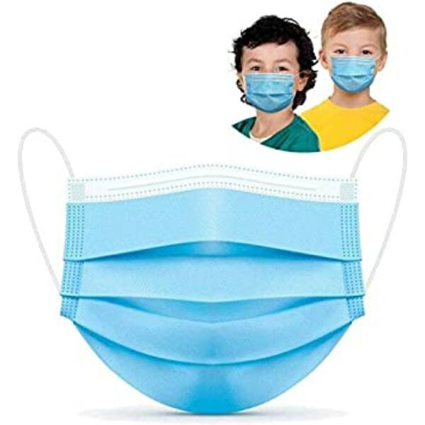 Eldobható 3 rétegű GYEREK szájmaszk / maszk (50db)